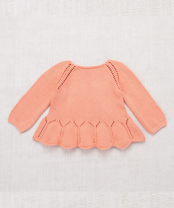 Peplum Pullover - Coral ★ONLY 3-4Y★