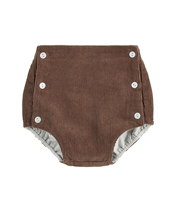 Folkstone Button Front Bloomers - Nut Velvet