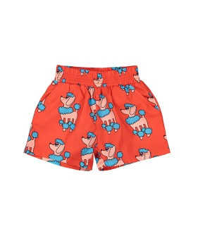 Summer Woven Short - Red Poodle ★ONLY 4Y★