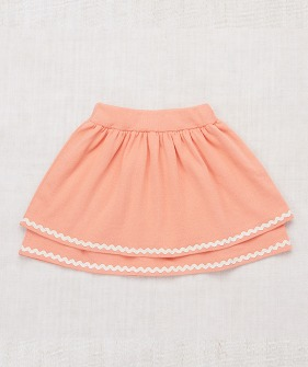 Tiered Skirt - Coral/Vanilla ★ONLY 5-6Y★