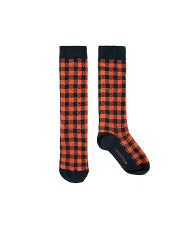 Check High Socks - Navy/Red ★ONLY 2Y★
