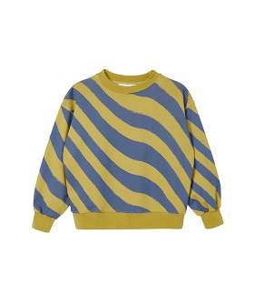 MS017 Balloon Sweatshirt - Southern Moss Psychedelic Stripe Print