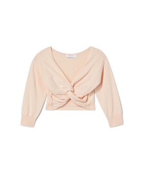 Plie Twist Sweater - Shirley Pink