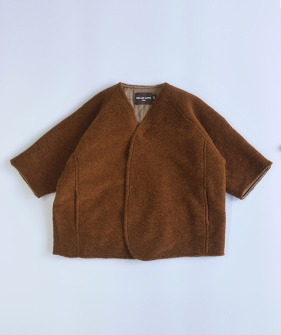 Lupo'S Kimono Coat - Orange Brown