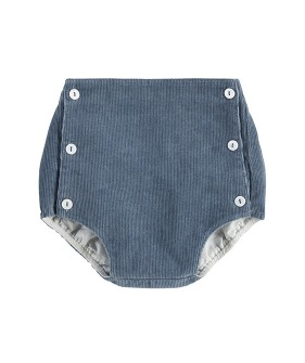 Folkstone Button Front Bloomers - Blue Velvet
