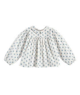 Emma Blouse - Upsy Daisy Floral In Off White