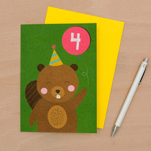 Beaver 4th B-Day Card