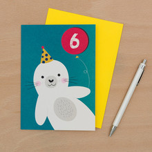 Seal 6th B-Day Card