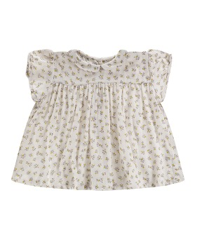 Juno Top - Tiny Buttercup Floral