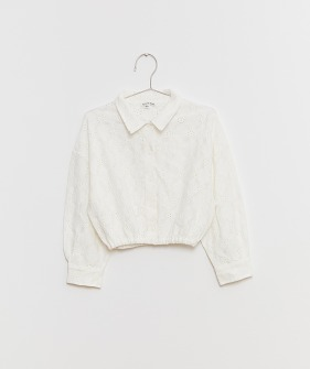 White Crop Blouse - White