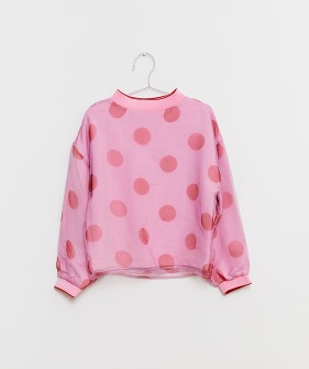 Organza Dots Sweatshirt - Pink/Red