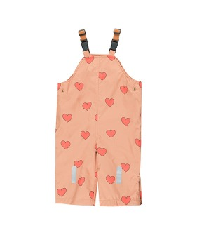 """Hearts"" Snow Dungarees - Tan/Red ★ONLY 4Y★"