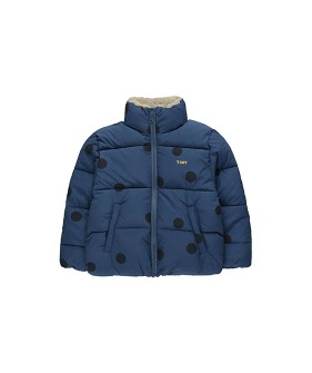 """Big Dots"" Padded Jacket - Light Navy/Navy ★ONLY 6Y★"