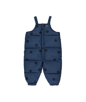 """Big Dots"" Padded Dungaree - Light Navy/Navy ★ONLY 4Y★"