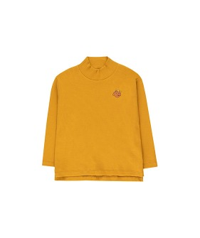 """Tiny Dog"" Mockneck Tee - Mustard/Sienna ★ONLY 8Y★"