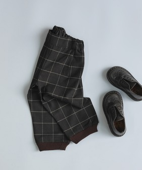 Porter Trousers - Brown Block Check