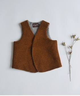 Lupo'S Vest - Orange Brown