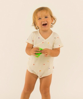 Ice Cream Dots Crossed Body - Off-White