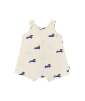 Doggy Paddle One-Piece - Light Cream/Iris Blue