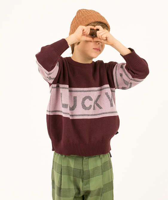 Lucky Sweater - Aubergine/Light Lilac ★ONLY 10Y★
